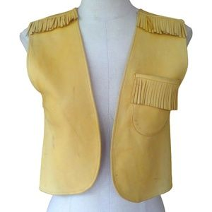 Western Leather Vest  CHERVENY GLOVES TANNING CO.